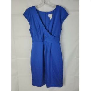 J Crew Size 2 sheath mini Dress Blue Sleeveless